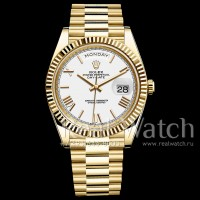Rolex Day-Date 40 Yellow Gold/White Dial/President Bracelet (Арт. 048-355)