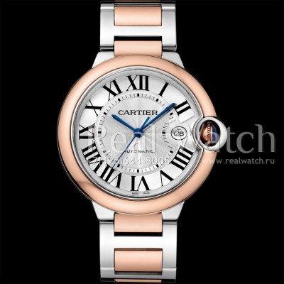 Cartier Ballon Bleu de Cartier Rose Gold and Steel 42 mm (Арт. RW-8720)