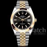 Rolex Datejust 41 Steel/Yellow Gold/Black Dial/Jubilee Bracelet (Арт. 048-350)