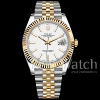 Rolex Datejust 41 Steel/Yellow Gold/White Dial/Jubilee Bracelet (Арт. 048-351)