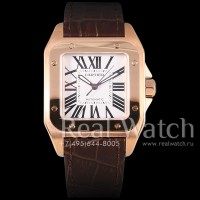 Cartier Santos 100 Medium Gold (Арт. 012-262)