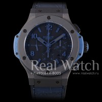 Hublot Big Bang 44 mm All Black Blue 1:1 (Арт. 029-225)