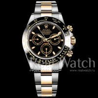 Rolex Cosmograph Daytona Steel/Yellow Gold Black Dial 1:1 (Арт. 048-342)