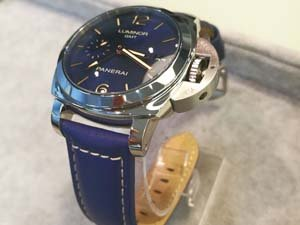 Новое поступление - Panerai Luminor 1950 3 Days GMT Automatic Acciaio 42mm Boutique Blue PAM688